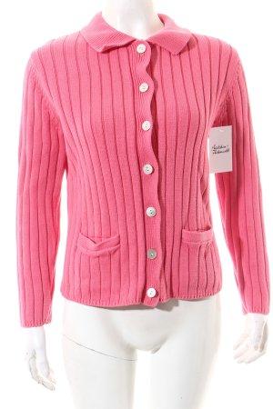 Lands' End Strickjacke pink klassischer Stil