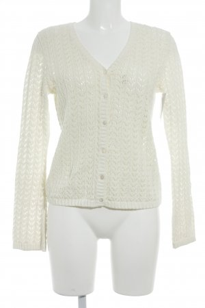 Lands' End Strickjacke wollweiß Casual-Look