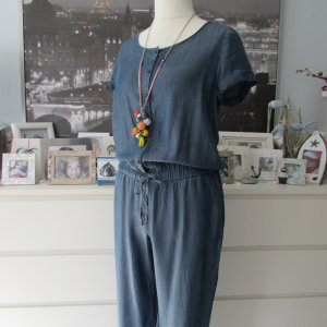 Lands' End * %Summer Sale% Traum Lyocell Tencel Overall Jumpsuit * blau denim Optik * 40/42