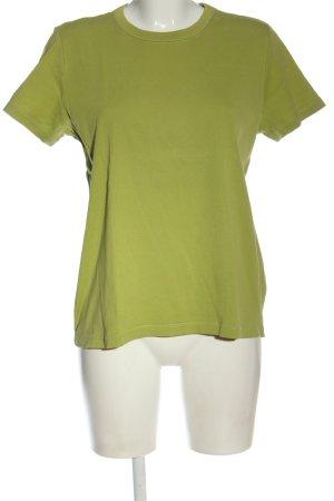 Lands' End T-shirt verde punto treccia stile casual