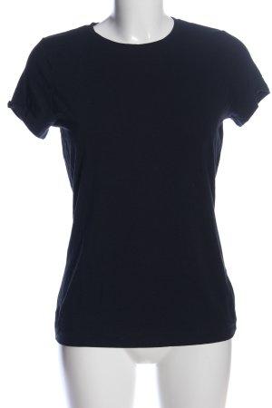 Lands' End T-Shirt blau schlichter Stil