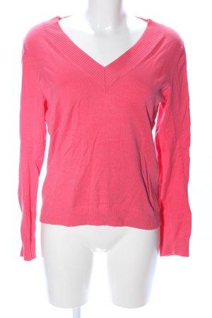 Lands' End V-Ausschnitt-Pullover pink Casual-Look