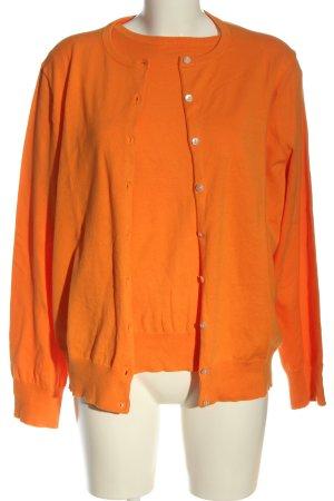 Lands' End Twin Set tejido naranja claro look casual