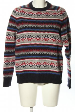 Lands' End Wollpullover Allover-Druck Casual-Look