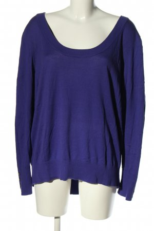 Lane Bryant Rundhalspullover lila Casual-Look