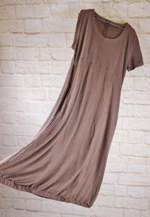 vestido de globo marrón-marrón grisáceo tejido mezclado