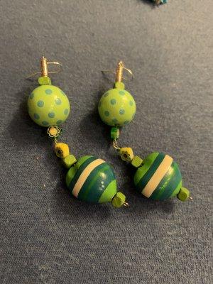 Handmade Pendientes de cuentas multicolor