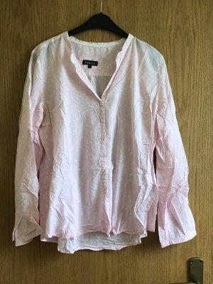 Blouse met lange mouwen wit-roze