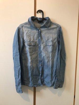 Bluzka jeansowa chabrowy Bawełna