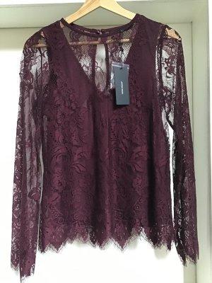 Vero Moda Blusa in merletto viola