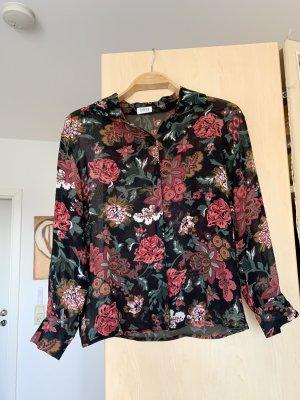 Langärmelige Vintage Bluse mit Blumenmuster