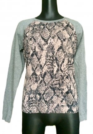 Amphora Crewneck Sweater light grey cotton