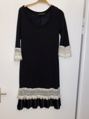 BSB Collection Jurk met lange mouwen zwart-wit