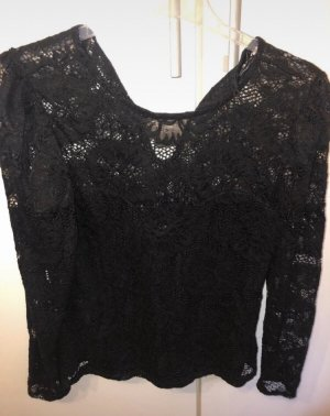 Gina Tricot Lace Top black