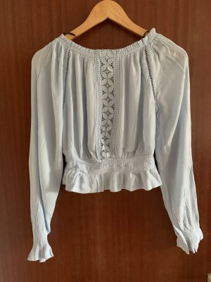 H&M Cropped shirt azuur