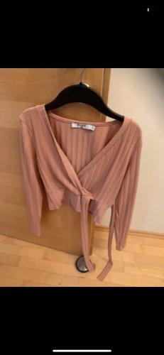 NA-KD Wraparound Shirt pink