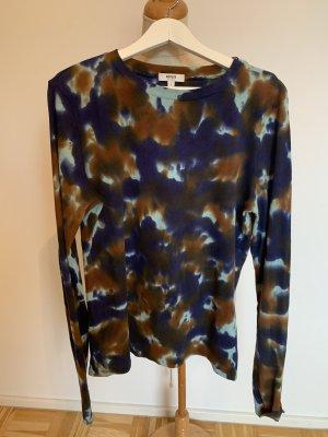 AGOLDE Camisa batik azul oscuro-marrón
