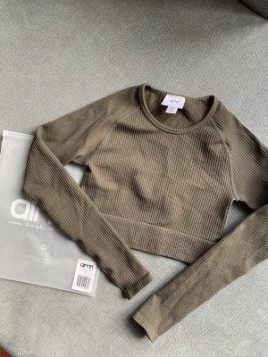 Aim'n Sportshirt khaki-groen-grijs Polyamide