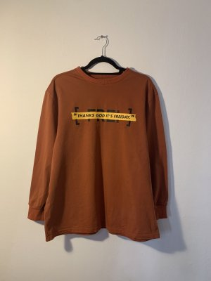 Unbekannte Marke Camicia oversize ruggine