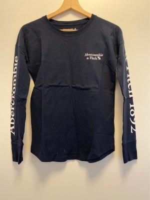 Langärmeliges T-Shirt in dunkelblau