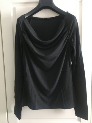 More & More Waterval shirt antraciet
