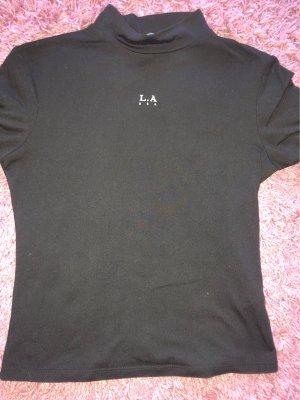 Tally Weijl Koszulka z golfem czarny-biały