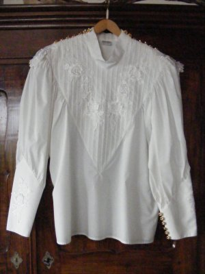 Cris Devi Lace Blouse white cotton