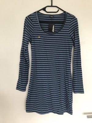 Chillytime Longsleeve Dress black-cornflower blue cotton