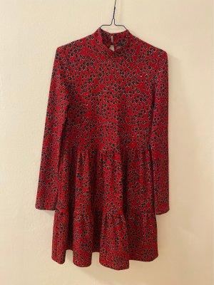 River Island Longsleeve Dress black-dark red