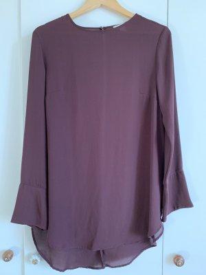 Langärmliges Shirt/Kleid in weinrot von H&M