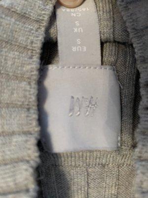 H&M Prążkowana koszulka szaro-brązowy