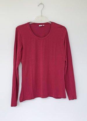 langärmliges T-Shirt in rot-purpur, Größe 40