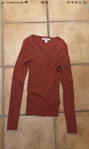 Amisu Camisa larga rojo oscuro