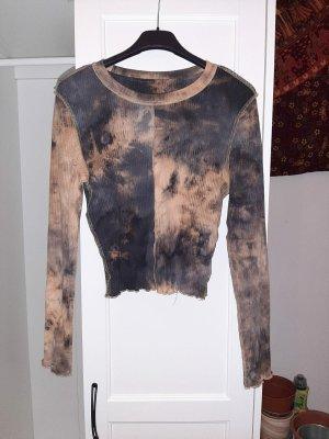 SheIn Batik Shirt black-dark orange