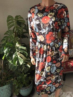 Langarm, Blumen, Midikleid, S, Zara, Neu mit Etikett