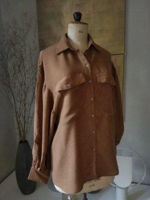 Reserved Camicetta a maniche lunghe bronzo-ruggine Lana