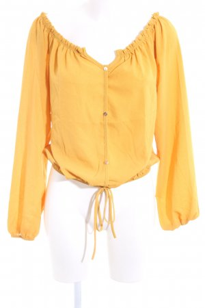 Fashion Nova Langarm-Bluse blassgelb Casual-Look