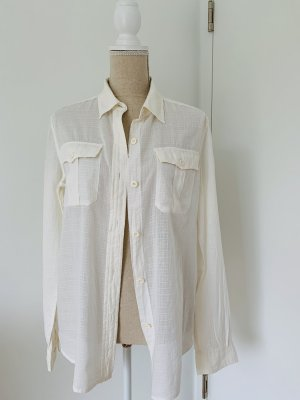 Denim & Supply Ralph Lauren Blusa de manga larga blanco puro Algodón