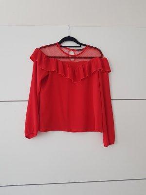 Bluzka z falbankami czerwony