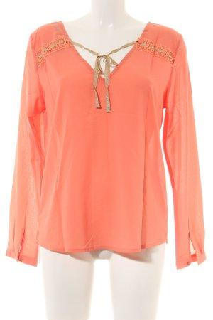 Carminn Long Sleeve Blouse light orange elegant