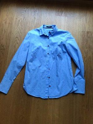 Langarm Bluse Hemd in hellblau von Mango Größe S