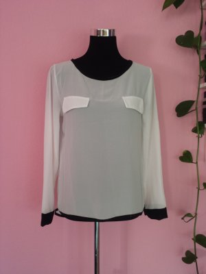 Langarm-Bluse in weiß (K3)