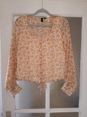 Langarm-Bluse mit Blumenmuster