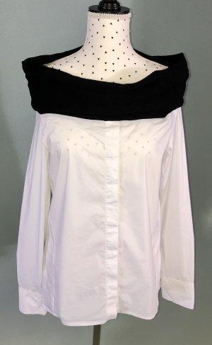 Langarm Bluse mit Carmenausschnitt