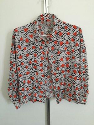 Langarm-Bluse mit Herzmuster