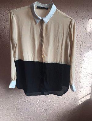 Langarm Bluse mit Kragen