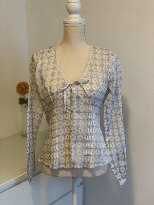 Langarm Bluse mit Muster von Bandolera Gr. 36