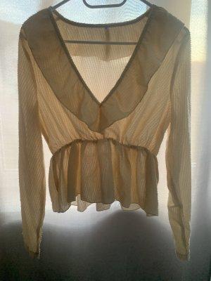 Langarm-Bluse mit Raffungen