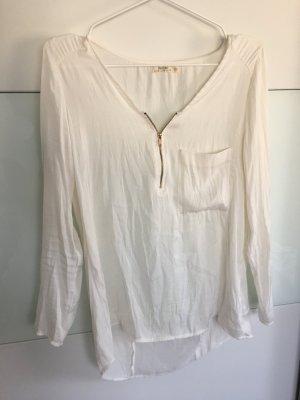 Langarm Bluse mit Reißverschluss