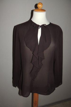 Langarm-Bluse mit Rüsche